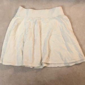 American eagle white geometric skater skirt